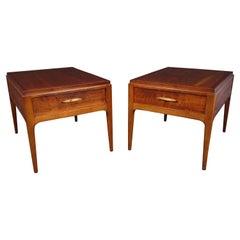 Mid-Century Modern Walnut End Tables by Lane