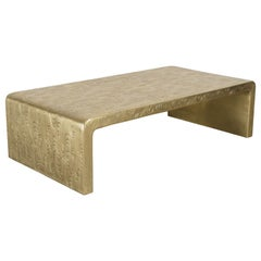 Contemporary Repoussé Brass Fume Design Table by Robert Kuo, Limited Edition