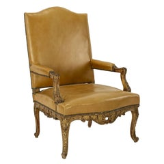 Regence Style Giltwood Armchair