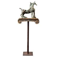 Maria Luisa Campoy Modernist Bronze Horse Sculpture