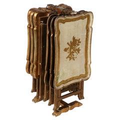 Gilt Italian Florentine Tray Tables