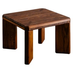 Roland Wilhelmsson Stool Side Table in Pine Produced in Sweden, 1960s