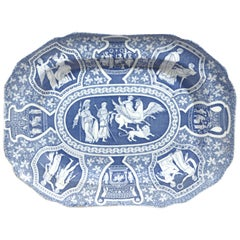 Spode Pottery Neo-Classical Greek Pattern Blue Dish