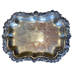 20th Century Silver plate Tray, Marked