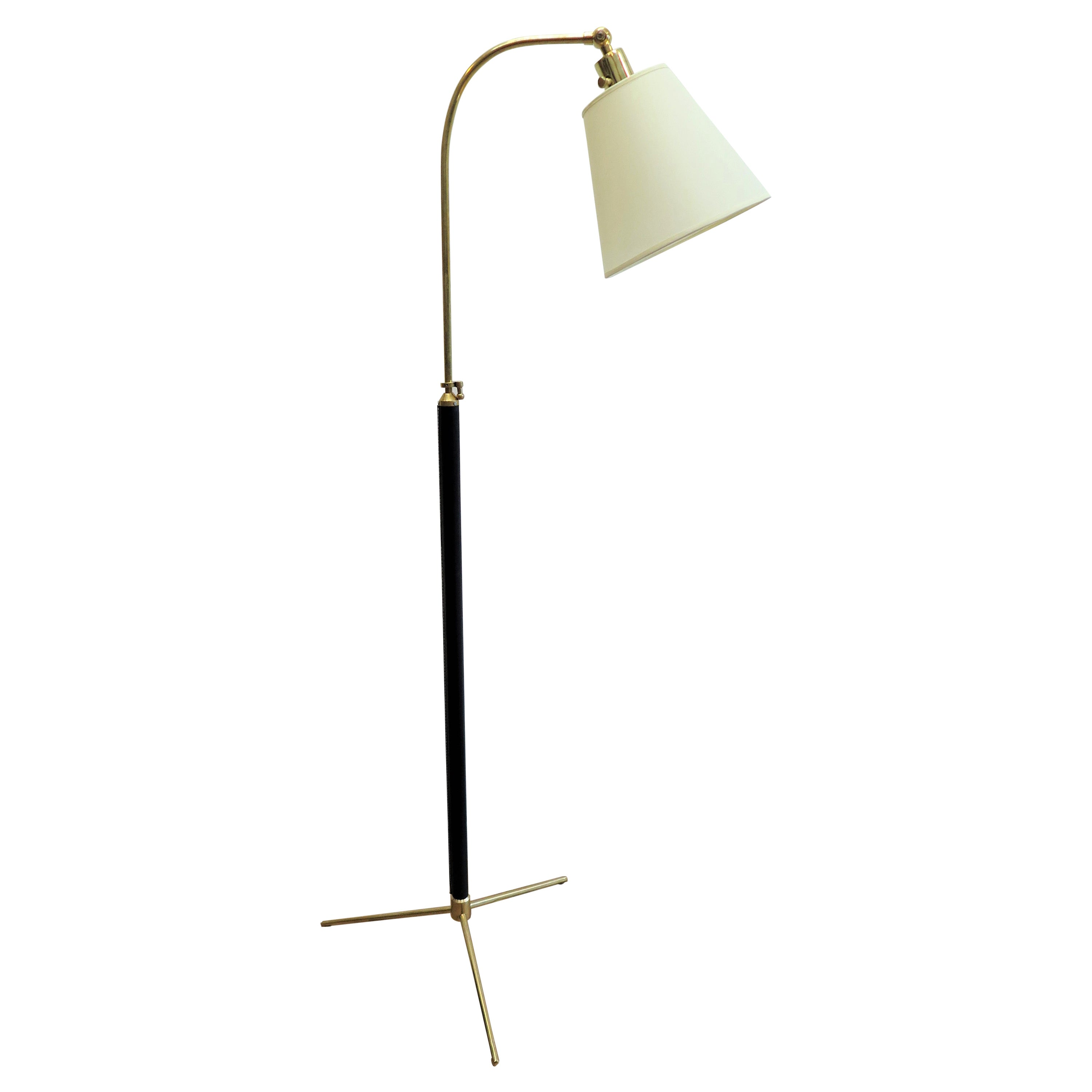 French Articulating Floor Lamp Jacques Adnet