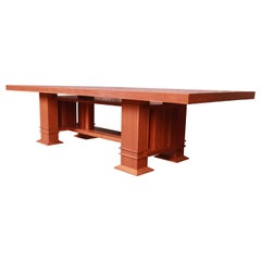 """Frank Lloyd Wright for Cassina Arts & Crafts """"Allen"""" Dining Table, 1986"""