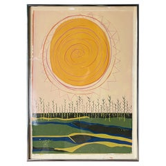 Mid-Century Modern Serigraph by Anne Hilberman Dated 1969