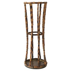 Bamboo Umbrella Holder Stand in the style of Gucci