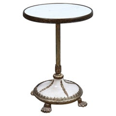 Empire Style Marble Side Table