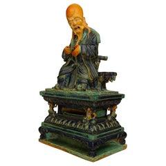 Ming Dynasty Porcelain Shou Lau Figure