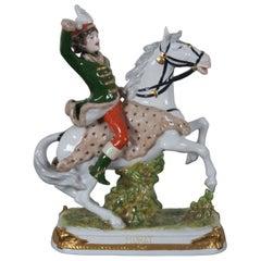 Antique Kister Porcelain Joachim Murat Figurine French Revolution Statue