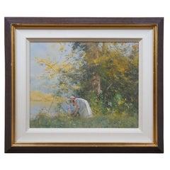 Robert Hagan Season's Warmth Impressionist Oil on Canvas Autumn Landscape Framed