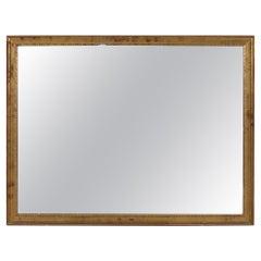 Mid-Century French Rectangular Simple Design Wall Mirror