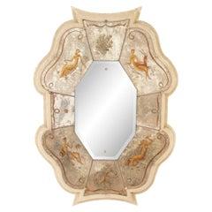 Pierre Lardin French Mid-Century Eglomise Mirror