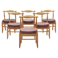 Guillerme & Chambron Set of Six 'Fumay' Dining Chairs
