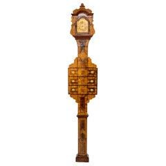 Baroque Grandfather Clock, Sig. Hitzelberger, Eichstätt, Germany Late 18th C.