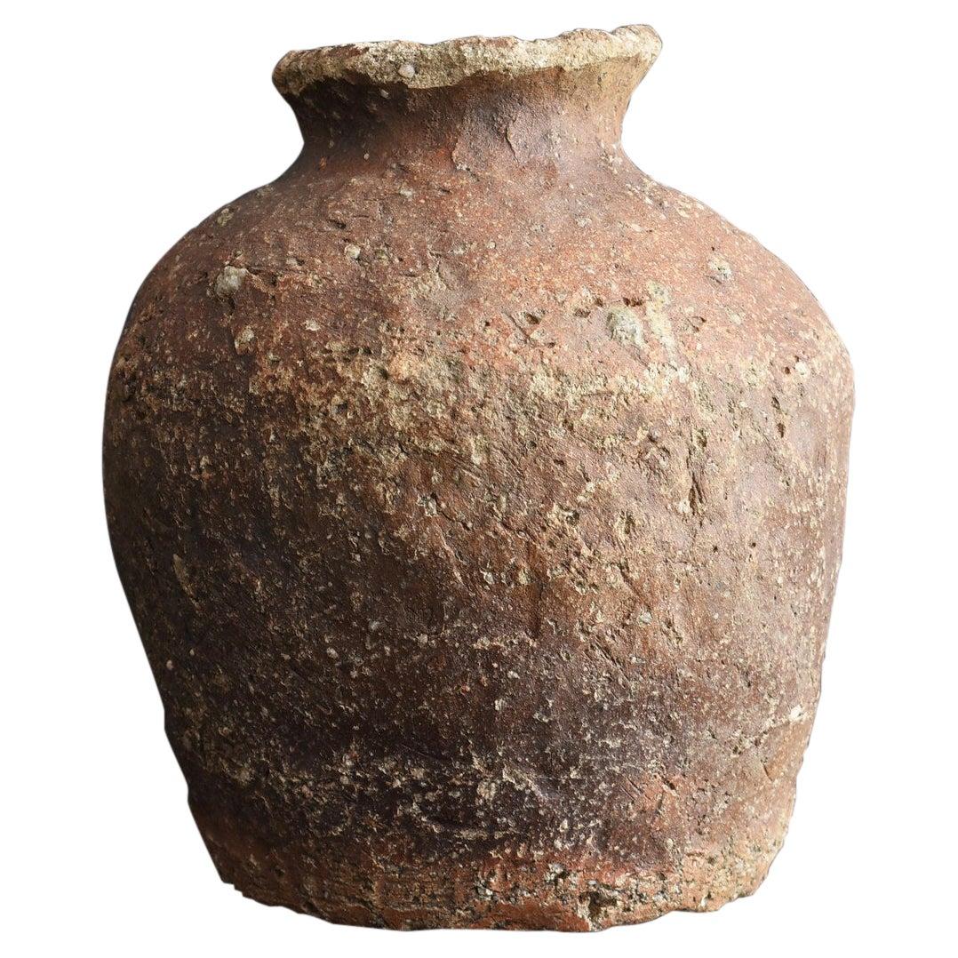 """Japanese Antique Jar 1400s-1500s """"Shigaraki Ware"""" /Rare Wabi-Sabi Vase"""