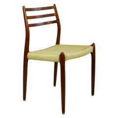 Set of Four Danish Teak Dining Chairs Mod. 78 by Niels Otto Möller