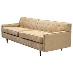 Cubic Three-Seat Sofa in Beige Fabric