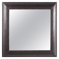 Square Metal Bathroom Mirror, 1990s