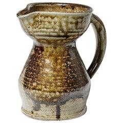 20th Century Design Ceramic Pitcher by Benoist Favre 1970 Handmade La Borne