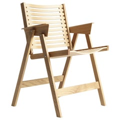 Rex Dining Chair in Natural Oak, Solid Frame + Plywood, Mid-Century Modern Style