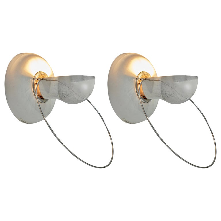 Achille Castiglioni for Flos Wall Lamps Model 'Bi Bip' For Sale