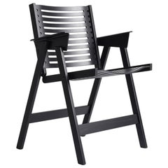 Rex Dining Chair in Black Oak, Solid Frame + Plywood, Mid-Century Modern Style