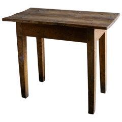 Swedish Wabi Sabi Rustic Console Side Table in Pine, Late 1800s