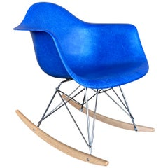 Herman Miller Eames Aquamarine Fiberglass RAR Rocking Chair