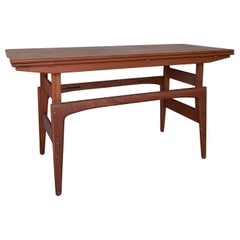 Mid-Century 3 Fonctions Table/Console/Coffee Table by Kai Kristiansen, Denmark