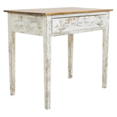 Antique Belgian Rustic Painted Side Table