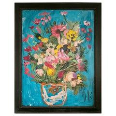 "Jordi Mollá, 2021 ""Flower Power"" Marbella Series Oil Painting"
