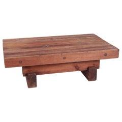Brutalist Pine Coffee Table by Jens Lyngsøe for Havdrup Trævarefabrik
