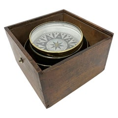English Antique Nautical Dry Compass, by George Christian, Liverpool