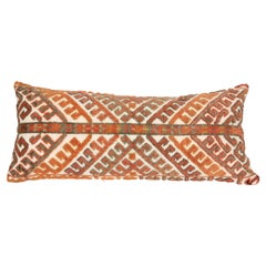 Antique Mix Technique Rug Pillowcase Made from a Karakalpak Tent Band, E 20 C.