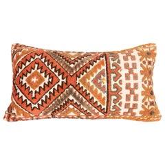 Antique Mix Technique Rug Pillowcase Made from a Karakalpak Tent Band, E 20th C