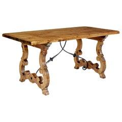 19th Century Spanish Small Pine Dining Table