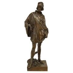 Victorian Bronze 16th Century Man