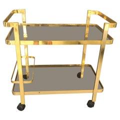 Gilt Metal Bar Cart, circa 1960s