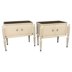 Italian Pair of Mid-Century Large Side Tables or Night Stands
