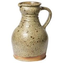 Extra Large Grey Stoneware Ceramic Pitcher by Pierre Digan La Borne circa 1970