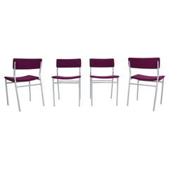 "Martin Visser ""SE07"" Set of 4 Dinning Room Chairs for 't Spectrum Bergeijk, 1960"