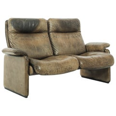 1970s Swiss Leather Sofa by De Sede