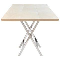 X-File Genuine Shagreen Stingray Side Table