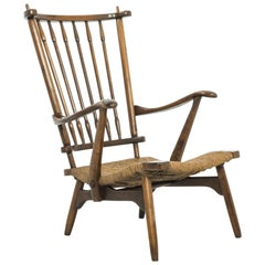 1960s French Wooden Armchair