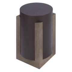 Contemporary Leather Side Table, Palazzo by Stephane Parmentier for Giobagnara