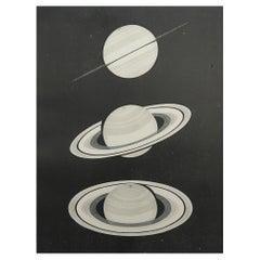 Original Antique Astronomy Print / Saturn, 1889