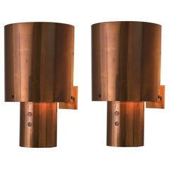 Pair of Wall Lights in Copper