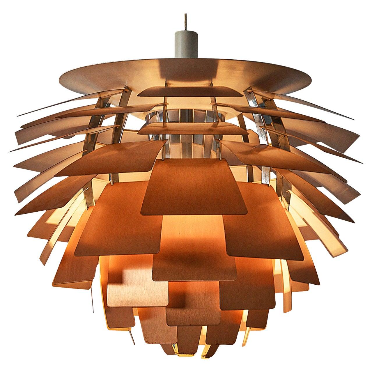 Poul Henningsen for Louis Poulsen 'PH Artichoke' Pendant in Copper